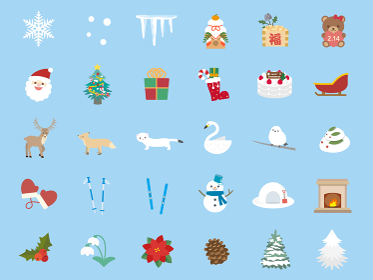 かわいい冬のイラスト素材集
