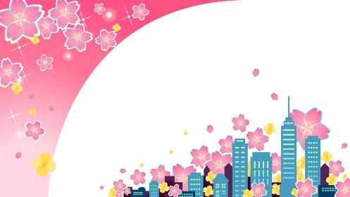 春の都市フレーム