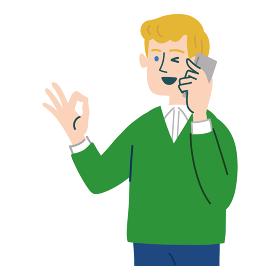 男性 外国人 ブロンド 携帯電話 スマホ いいね