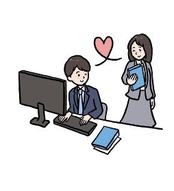 社内恋愛のイラスト