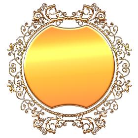 ゴージャスなゴールドメタリック オーナメント 金色の飾り罫 バックグラウンド