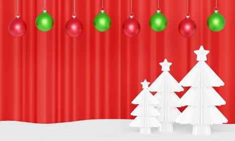 クリスマス背景3DCGイラスト画像