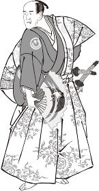 浮世絵 歌舞伎役者 その70 白黒