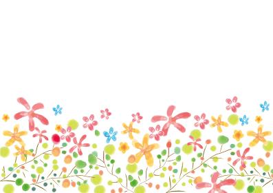 かわいい植物の水彩風背景素材 フレーム 水彩 実 枝 果実