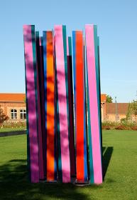 sculpture color forest at landau national garden show 2015