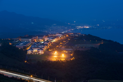 別府市十文字原展望台から眺める夜景(大分県)