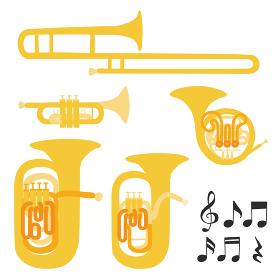金管楽器のベクターイラスト オーケストラ ブ