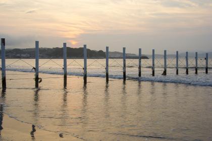 片瀬海岸の日の出