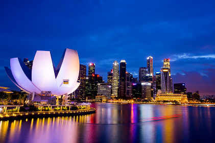 SINGAPORE - AUGUST 27, 2017: Marina Bay Sands hotel in Singapore