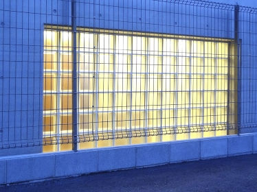 ガラスブロックの採光窓