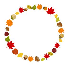 秋の紅葉フレーム
