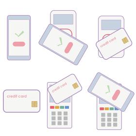 非接触でカード決済のベクターイラスト
