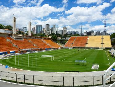 サンパウロのサッカースタジアムのエスタジオ・ド・パカエンブー競技場