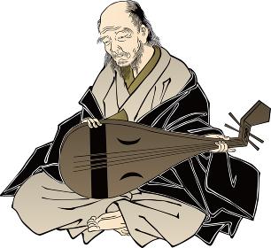 浮世絵 楽器を持っている人 その1