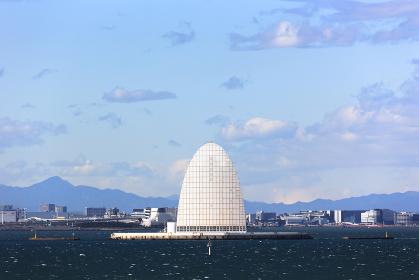 日本・東京湾アクアライン、風の塔