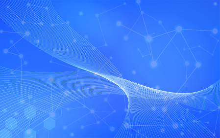 アブストラクト、ネットワークテクノロジーと流線のイメージ
