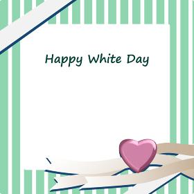 ホワイトデーのフレーム素材