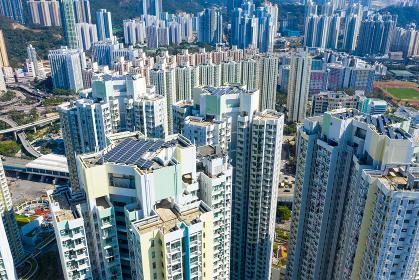 Kai Tak, Hong Kong 29 January 2019: Hong Kong residential district