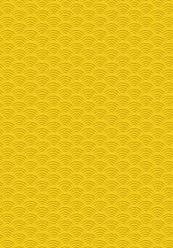 和風和柄背景フレーム|シームレス伝統模様 青海波文様(せいがいは) 背景縦位置全面 黄色系
