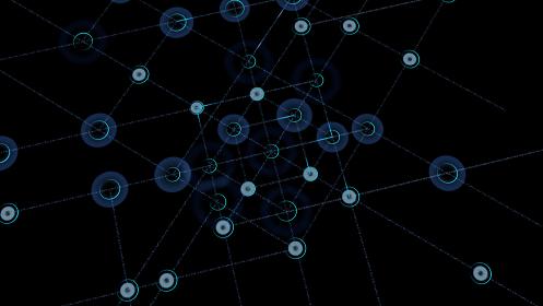 通信 ネットワーク テクノロジー 都市 デジタル データ 情報 ビジネス 3D イラスト 背景