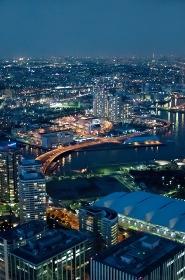 ランドマークタワーから東京方面の夜景