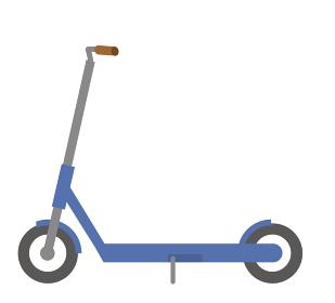 電動キックスクーター 電動キックボードのイラスト