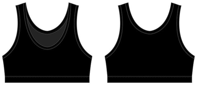 ブラトップ・スポーツブラ 女性用スポーツウェア / ベクターテンプレートイラスト