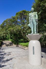 多賀山公園東郷平八郎元帥銅像 鹿児島県鹿児島市