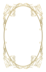 メタリック ゴールド オーナメント アールヌーヴォー飾り罫 飾り囲み バックグラウンド ビンテージ