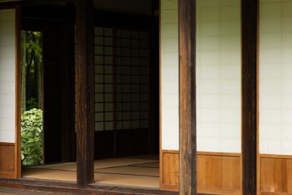 日本の古民家の縁側