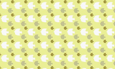 北欧パターン「黄色い鳥柄」