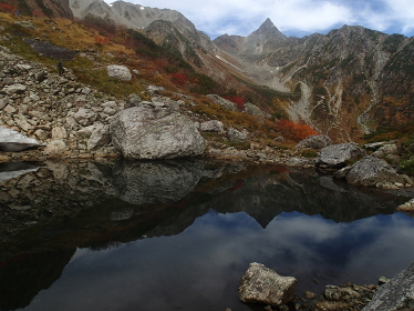 北アルプス氷河公園と槍ヶ岳