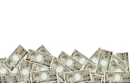背景フレーム素材:一万円札を敷き詰めたイラスト