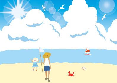 夏の朝顔と真夏の海