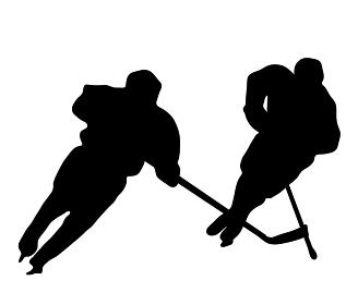 スポーツ、アイスホッケーのシルエット