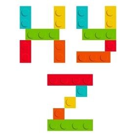 Alphabet set made of toy construction brick blocks isolated isolated on white.  Alphabet set made of toy construction brick blocks isolated iso