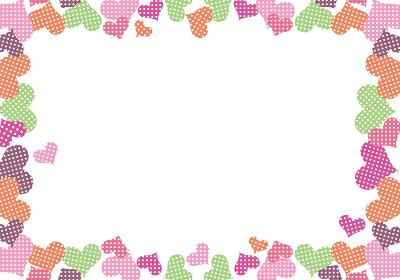 ポップなハートの背景イラスト_バレンタイン販売促進用バナーポスターポップテンプレート