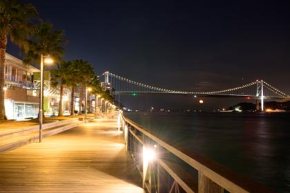 下関の観光地の夜景
