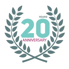 Template Logo 20 Anniversary in Laurel Wreath Vector Illustration EPS10. Template Logo 20 Anniversary in Laurel Wreath Vector Illustratio