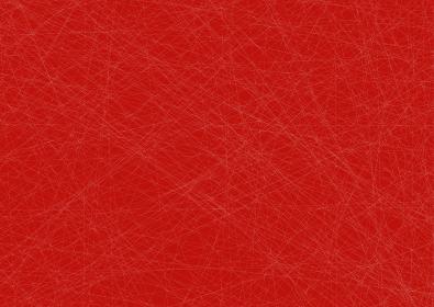 細い線の交差するアブストラクトA3ポスター 赤地に白