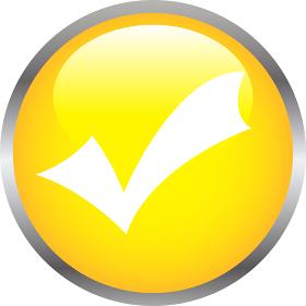 カラフル3Dナビゲーションボタン チェックマーク 合格 確認
