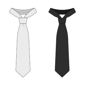 ネクタイ( 男性ファッション ) ベクターテンプレートイラスト
