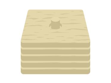木製のコースターのイラスト