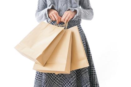 ショッピングをする女性・顔なし