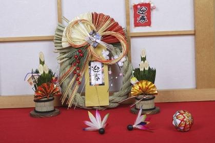 お正月の飾り和風イメージ