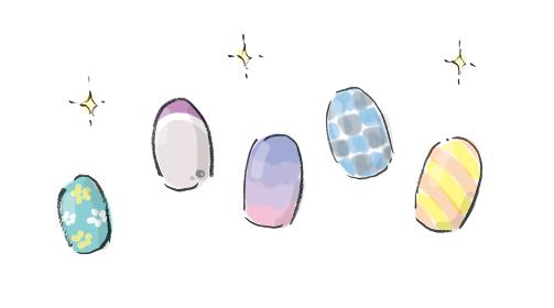 手描きイラスト素材 お洒落 ネイルアート ネイル 爪