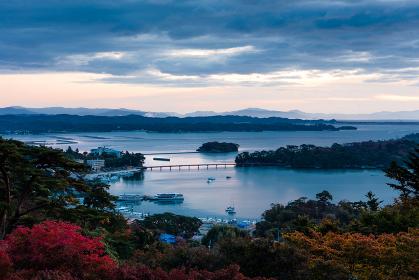 日本三景・宮城県松島の夜明け