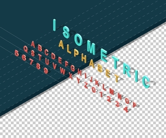 Isometric design style alphabet. Letter and 3d alphabet, alphabet letters, font and numbers, kids alphabet, abc and typography, type geometric text, typographic lettering illustration