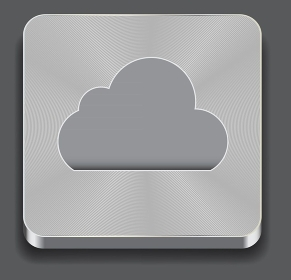 Vector illustration of cloud apps icon
