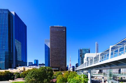 浜松町駅の東側(竹芝)からの眺望 【東京都の都市風景】